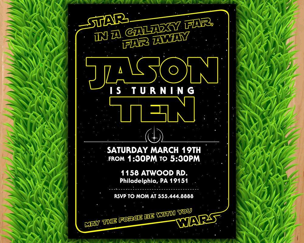 Star Wars Invitations Free Printable Elegant Star Wars Invitation Star Wars Party Invitation Star Wars