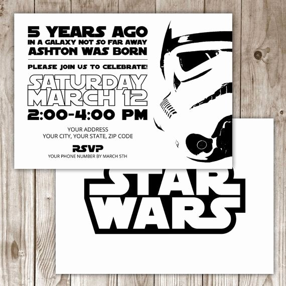 Star Wars Invitations Free Printable Fresh 17 Best Ideas About Star Wars Invitations On Pinterest