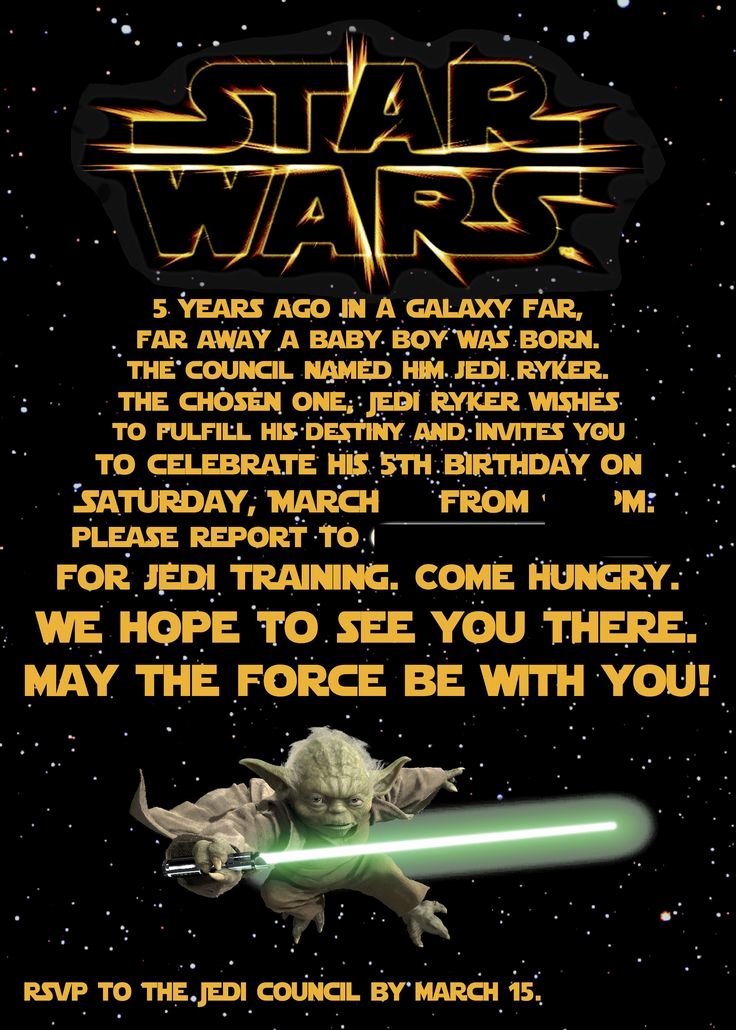 Star Wars Invitations Free Printable Fresh Best 25 Star Wars Invitations Ideas On Pinterest
