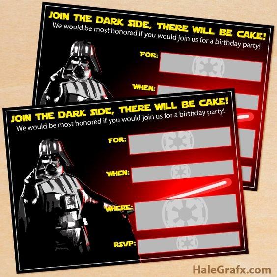 Star Wars Invitations Free Printable Fresh Here to Free Printable Star Wars Darth