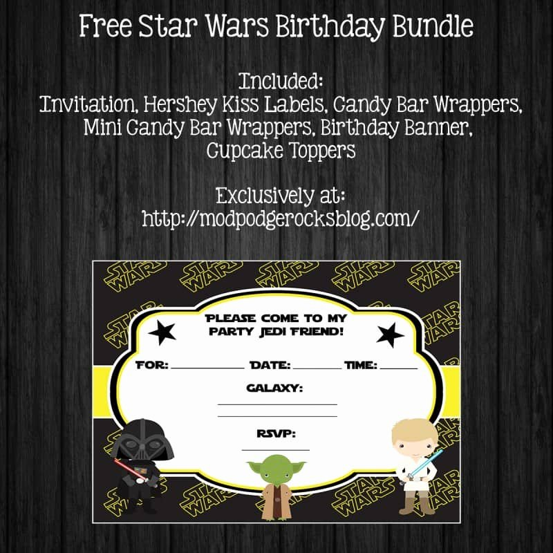 Star Wars Invitations Free Printable Fresh Star Wars Birthday Party Free Printable Pack Mod Podge