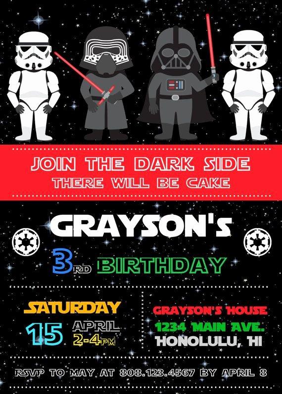 Star Wars Invitations Free Printable Inspirational Free Star Wars Birthday Invitations – Bagvania Free