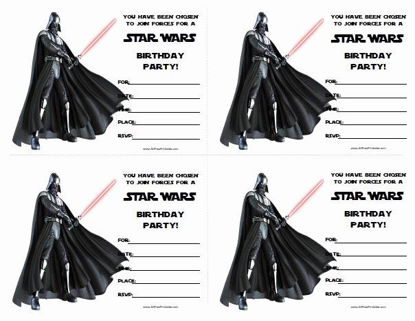 Star Wars Invitations Free Printable Inspirational Star Wars Birthday Invitations Free Printable