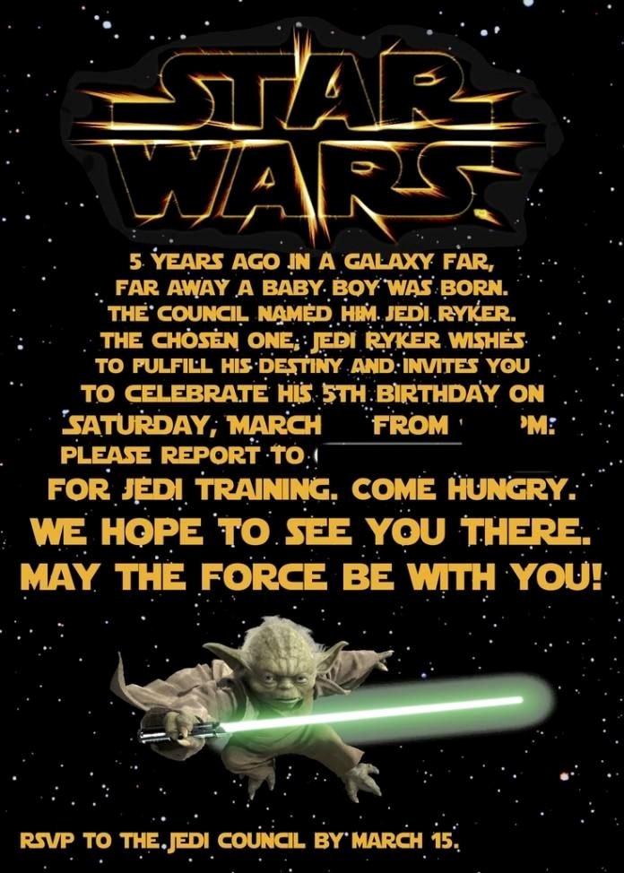 Star Wars Invitations Free Printable Luxury Free Printable Star Wars Birthday Invitations