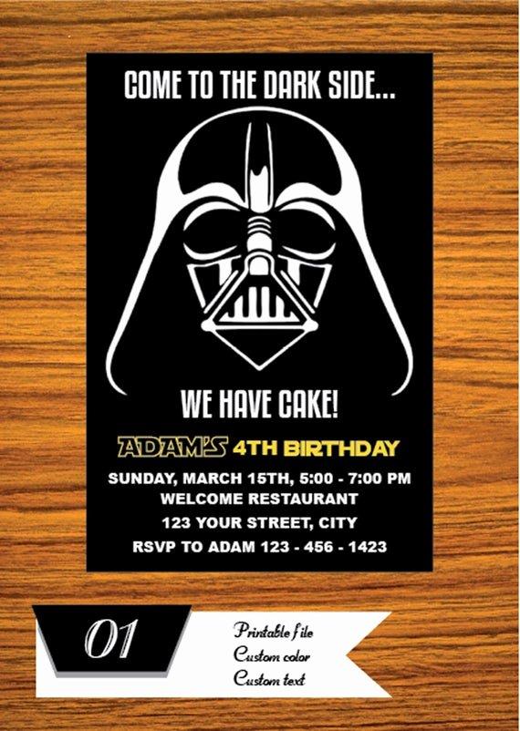 Star Wars Invitations Free Printable New Star Wars Invitation Star Wars Party Invitation Star Wars