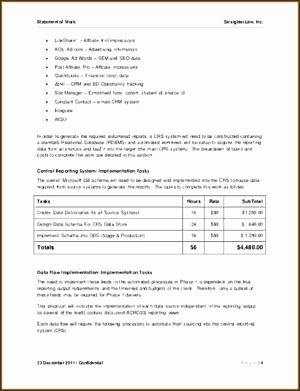 Statement Of Work Sample Beautiful 9 Statement Work Sample Sampletemplatess