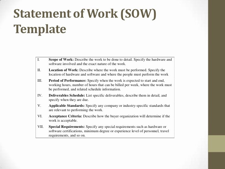 Statement Of Work Sample Luxury Procurement Ops450