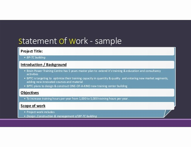 Statement Of Work Sample New Practical Project Management 12 Feb 2014