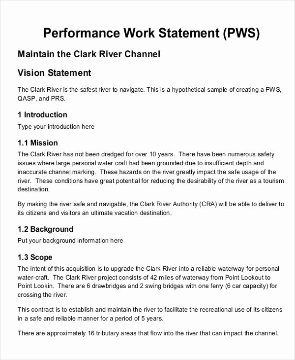 Statement Of Work Sample Unique Free 20 Statement Of Work Examples & Samples In Pdf