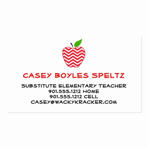 Substitute Teacher Business Cards Awesome Substitute Teacher Business Cards