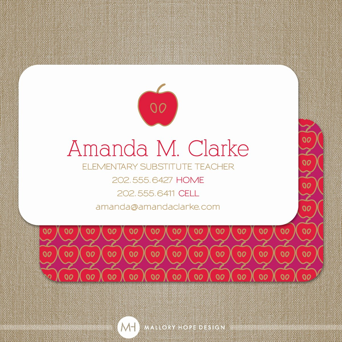 Substitute Teacher Business Cards Fresh Teacher Business Card or Substitute Teacher by