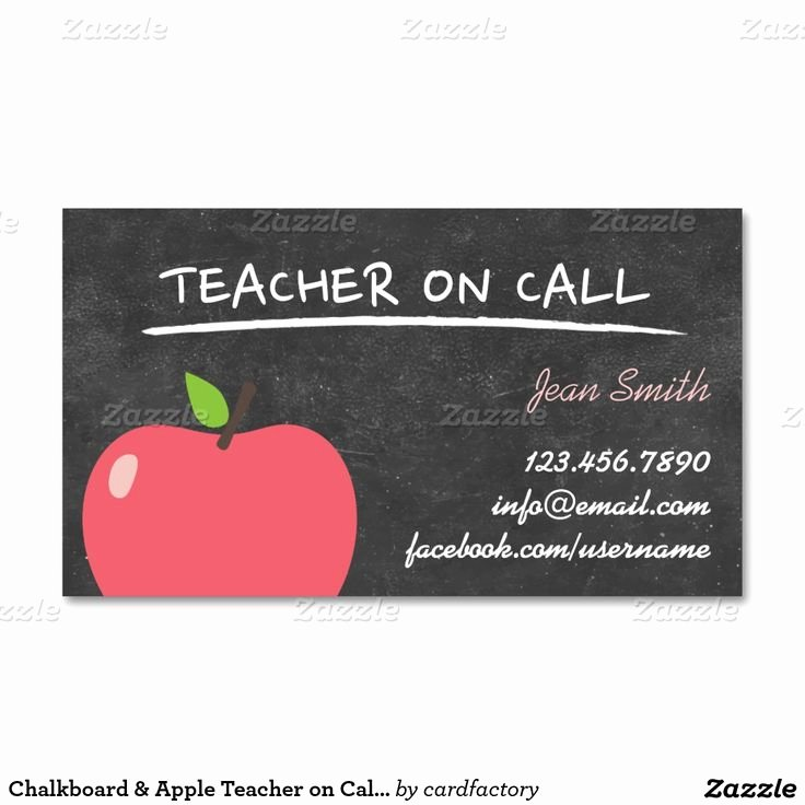 Substitute Teacher Business Cards Inspirational 25 Best Ideas About Teacher Business Cards On Pinterest