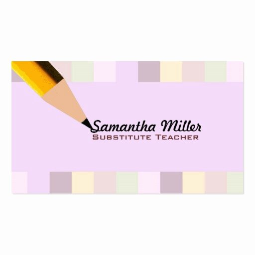 Substitute Teacher Business Cards Luxury Substitute Teacher Business Cards
