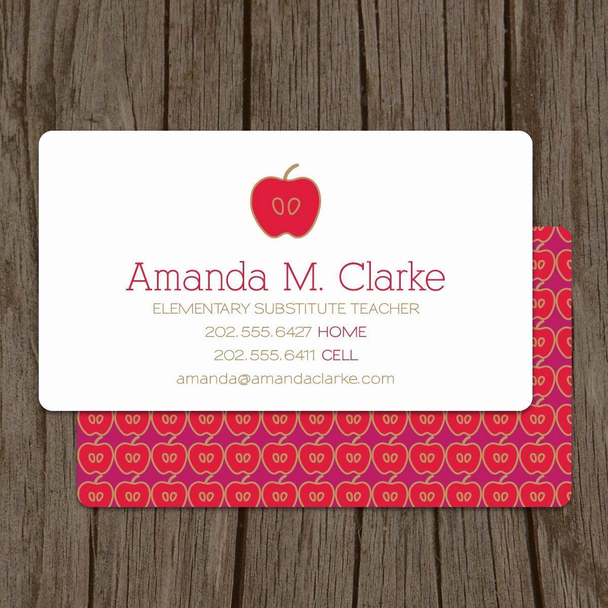 Substitute Teacher Business Cards New Modern Substitute Teacher Business Card Set Of 100 $48 00