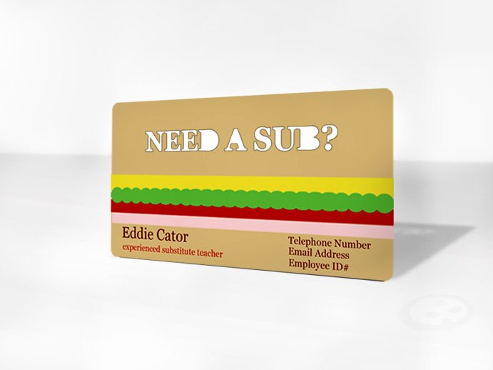 Substitute Teacher Business Cards Unique the Importance Of Business Cards for Subs Sub Sidekick Blog