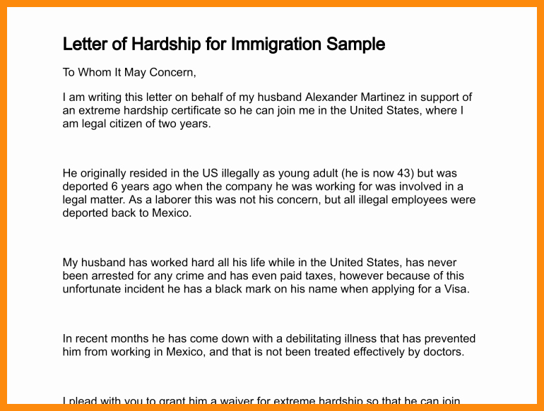Support Letter Sample for Immigration Best Of Immigration Letter Support for A Family Member