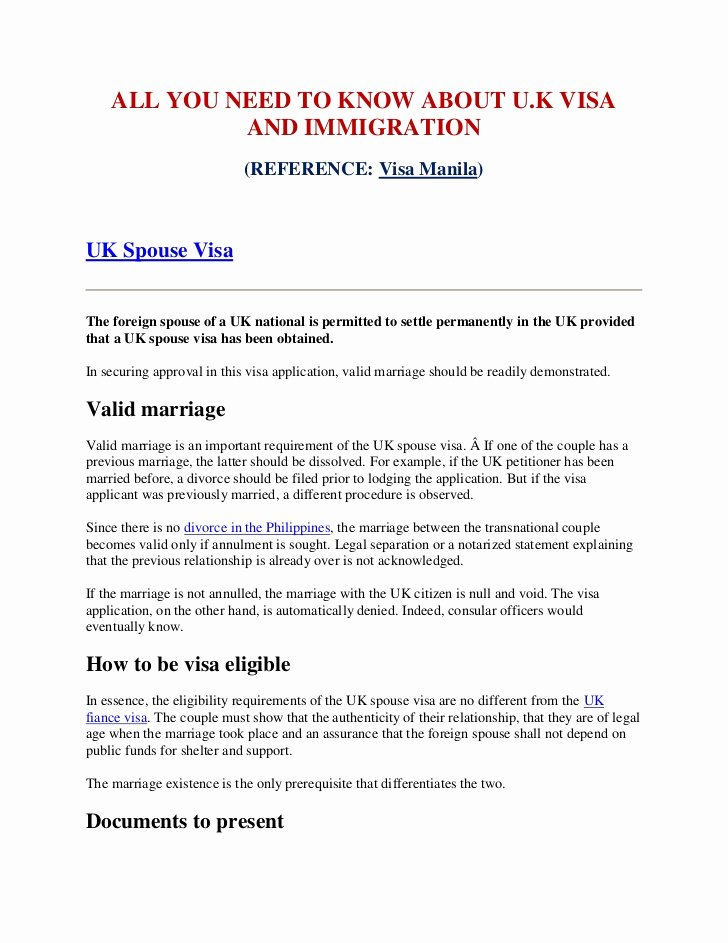 Support Letter Sample for Immigration Unique All You Need to Know About Uk Visa and Immigration