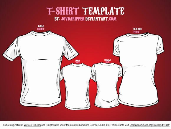 T Shirt Template Illustrator Best Of Free Vector T Shirt Template