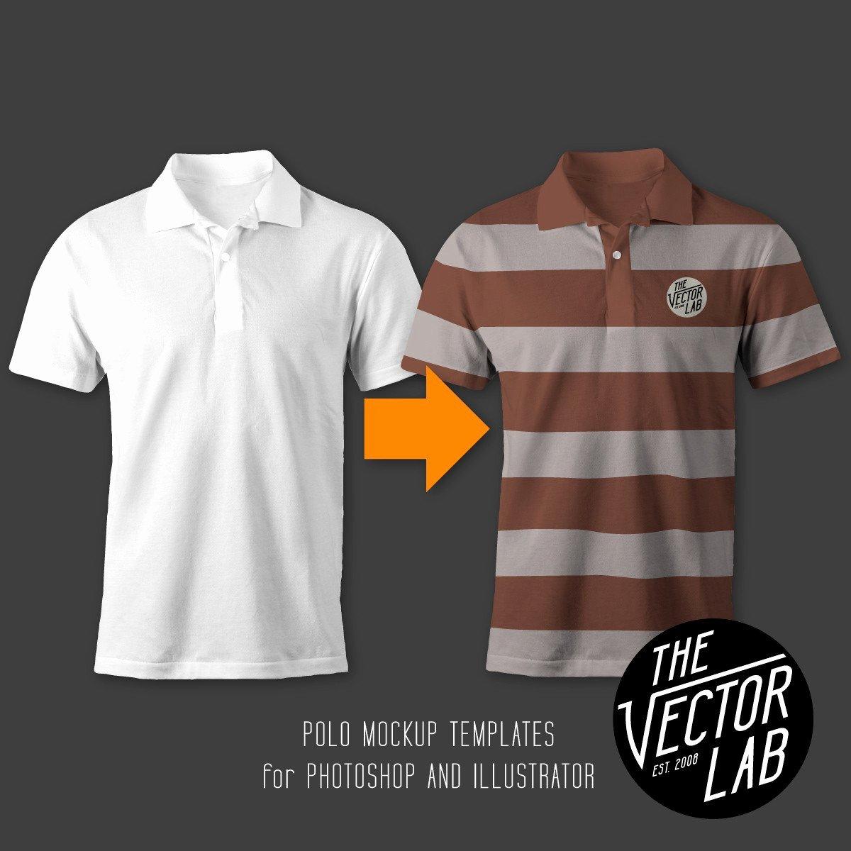 T Shirt Template Illustrator Elegant Men S Polo Mockup Templates thevectorlab