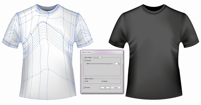 T Shirt Template Illustrator New How to Create A Vector T Shirt Mockup Template In Adobe