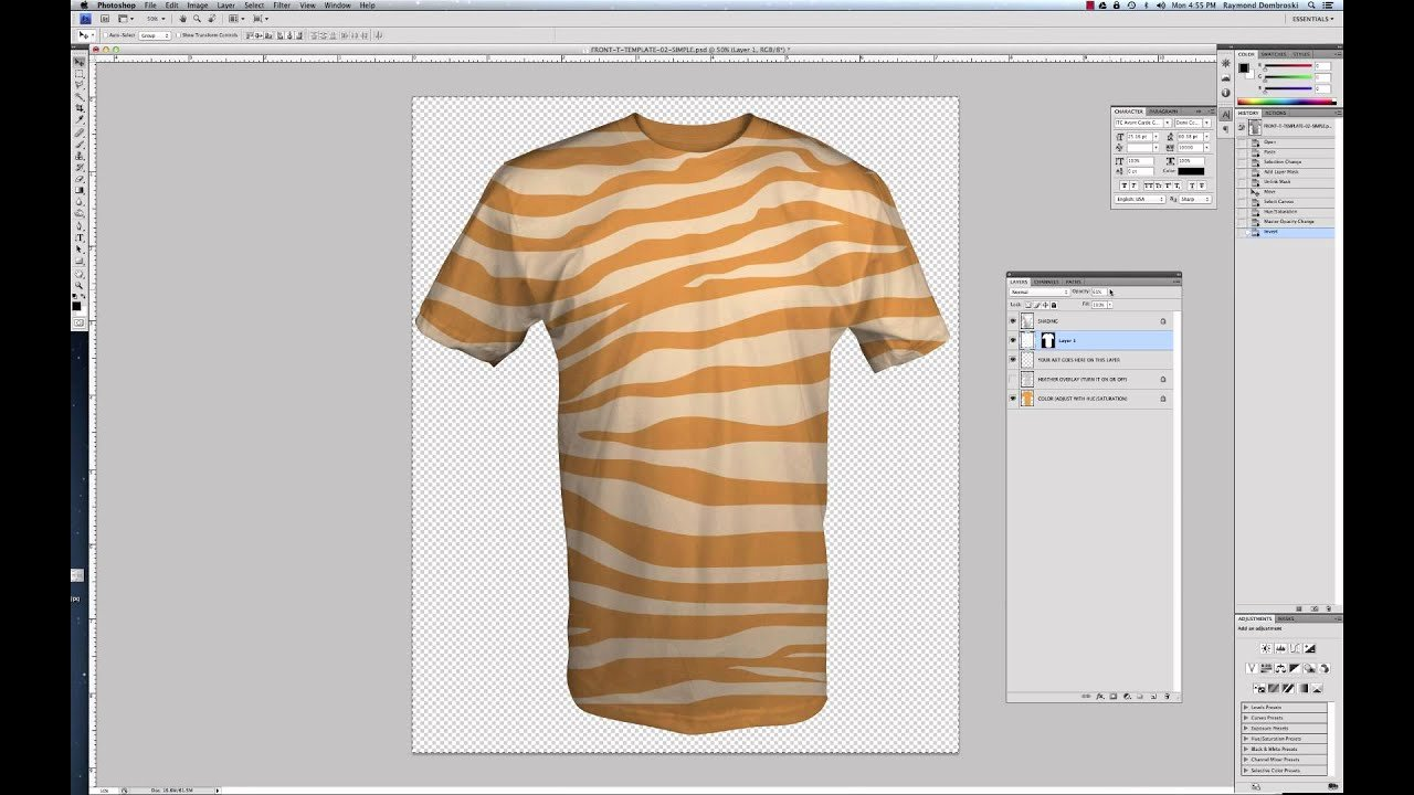 T Shirt Template Photoshop Fresh Tutorial How to Use Simplified T Shirt Templates for