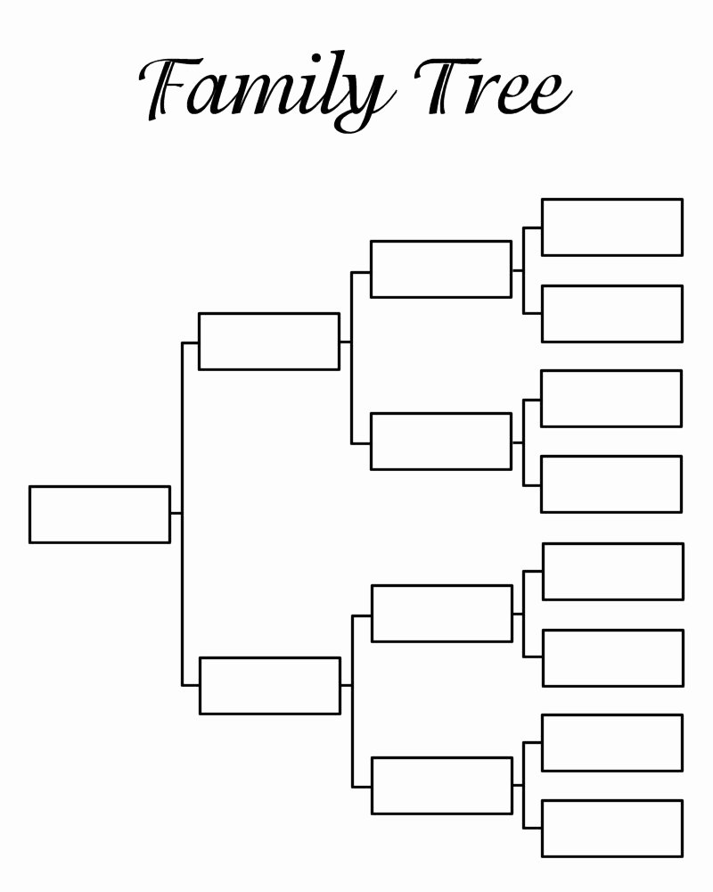 Template for Family Tree Awesome Blank Family Tree Template