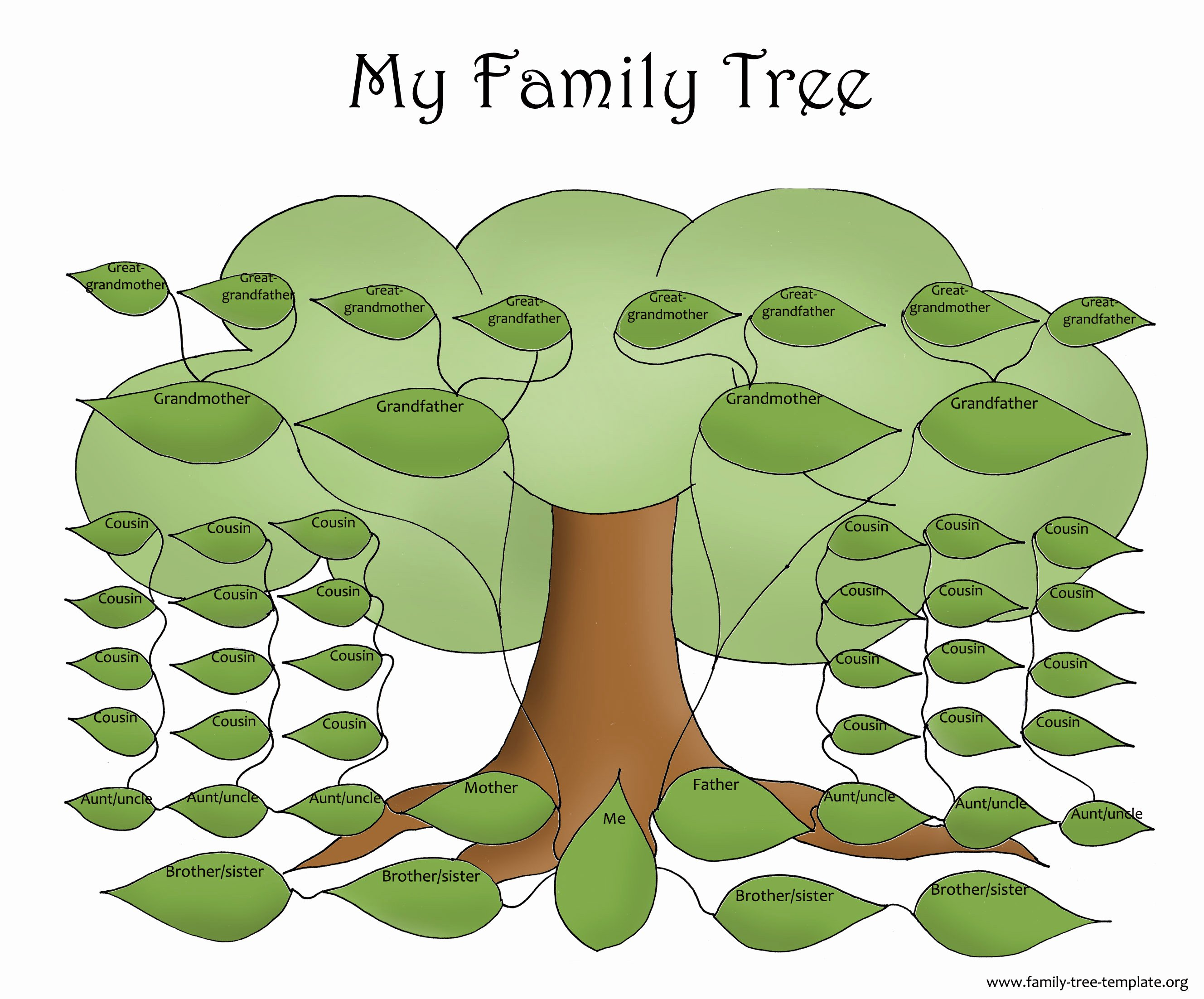 Template for Family Tree Beautiful Activities