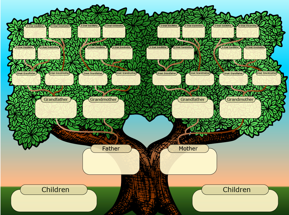 Template for Family Tree Beautiful Free Family Tree Templates