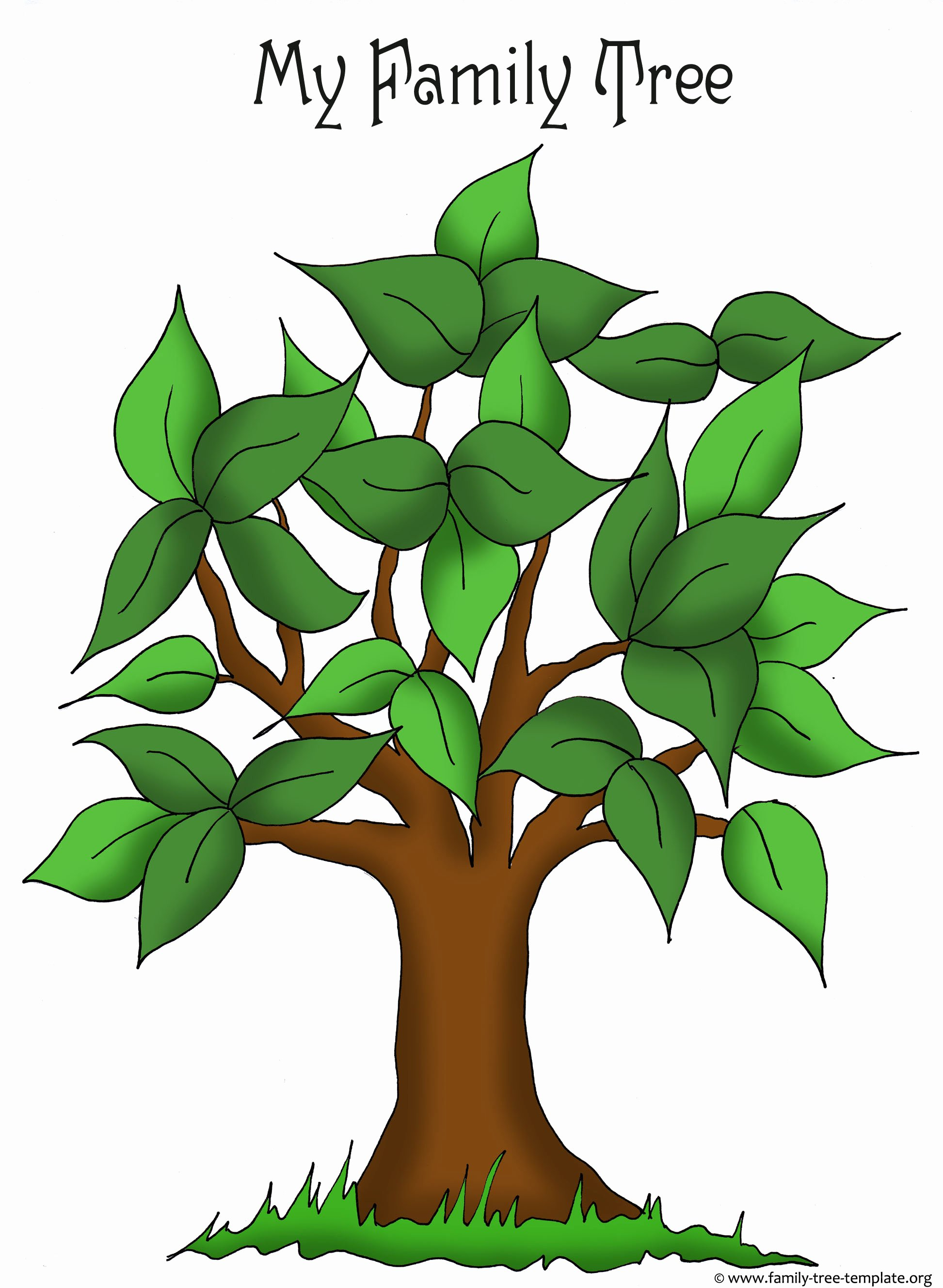 Template for Family Tree Best Of Family Tree Templates & Genealogy Clipart for Your