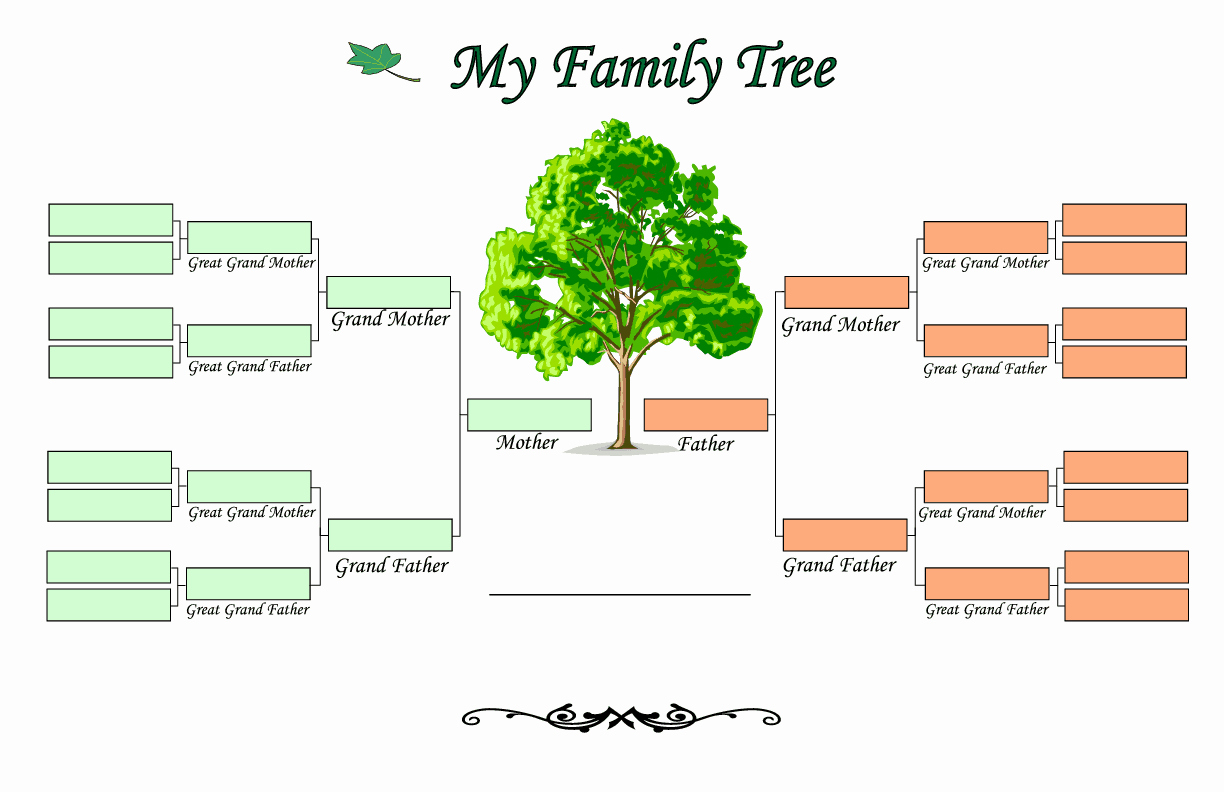 Template for Family Tree Elegant Family Tree Templates