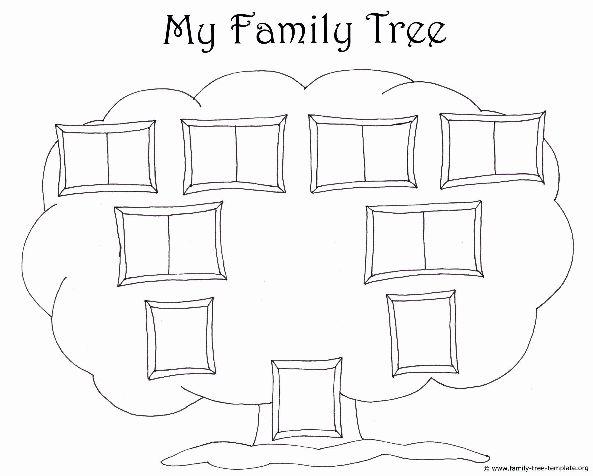 Template for Family Tree Fresh Family Tree Template for Kids Printable Genealogy Charts
