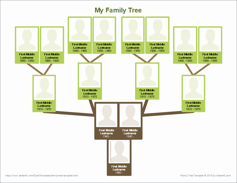Template for Family Tree Fresh Free Family Tree Template