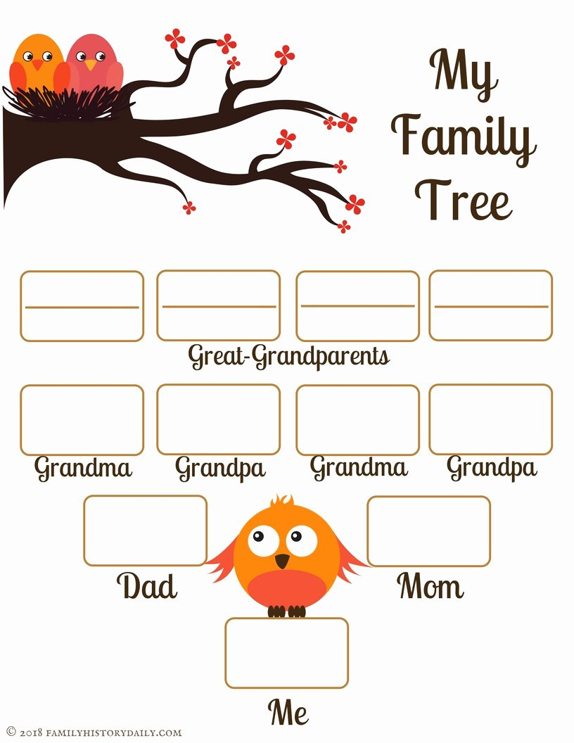 Template for Family Tree Lovely 4 Free Family Tree Templates for Genealogy Craft or