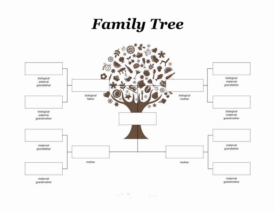 Template for Family Tree Luxury Free Family Tree Template