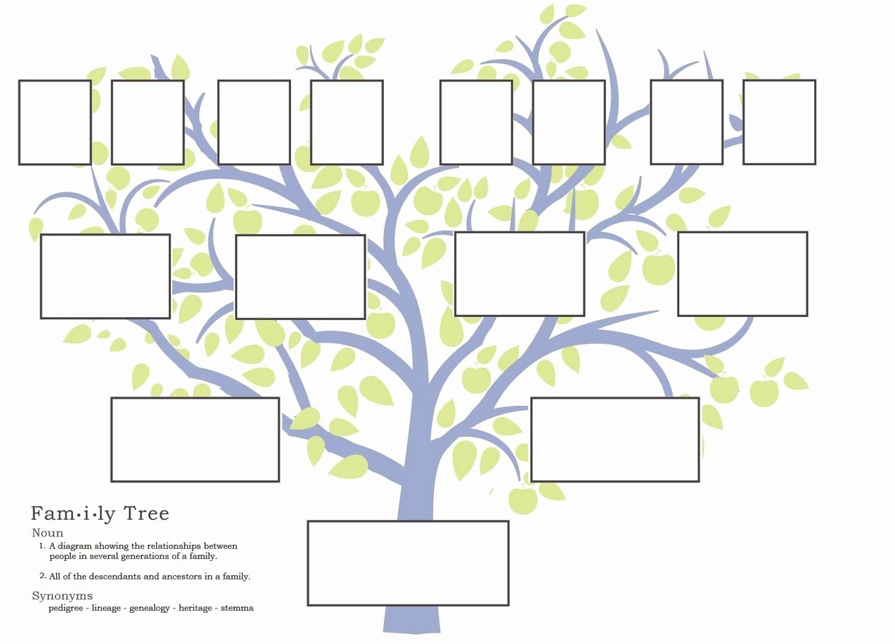 Template for Family Tree Luxury Free Family Tree Template to Print Google Search