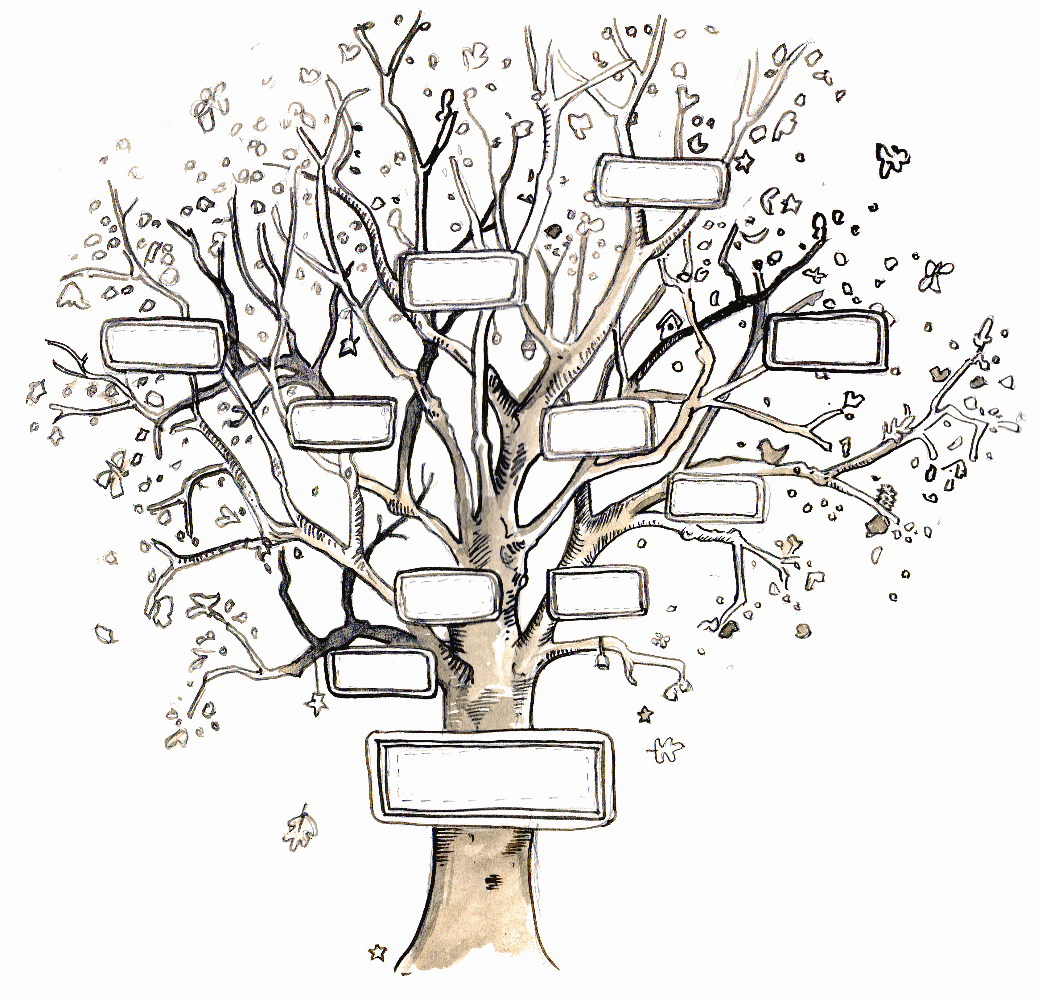 Template for Family Tree Luxury Giants & Pilgrims