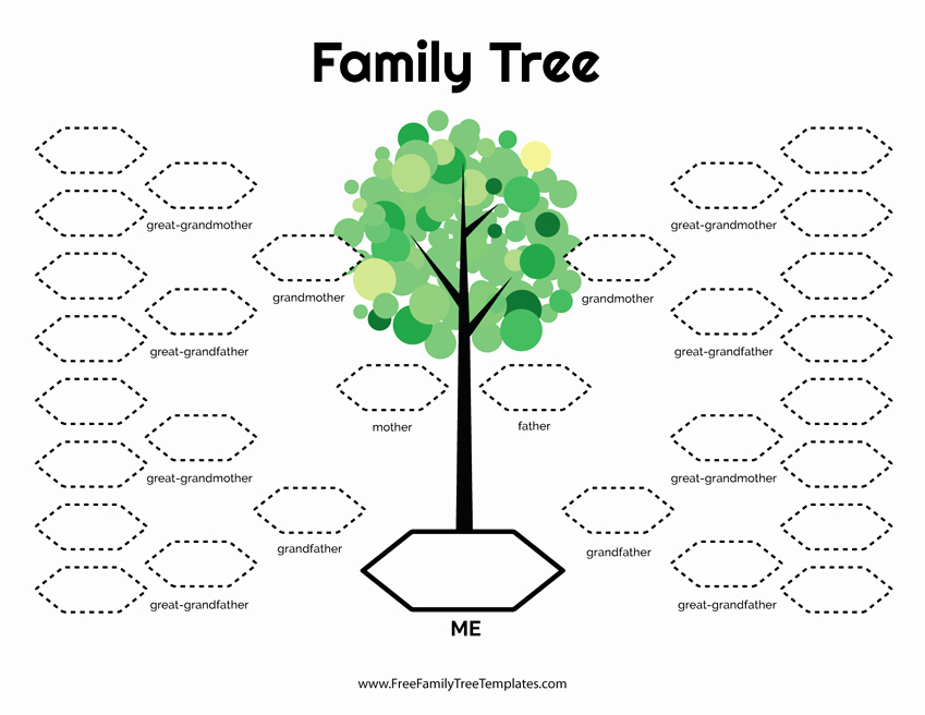 Template for Family Tree New 5 Generation Family Tree Template – Free Family Tree Templates