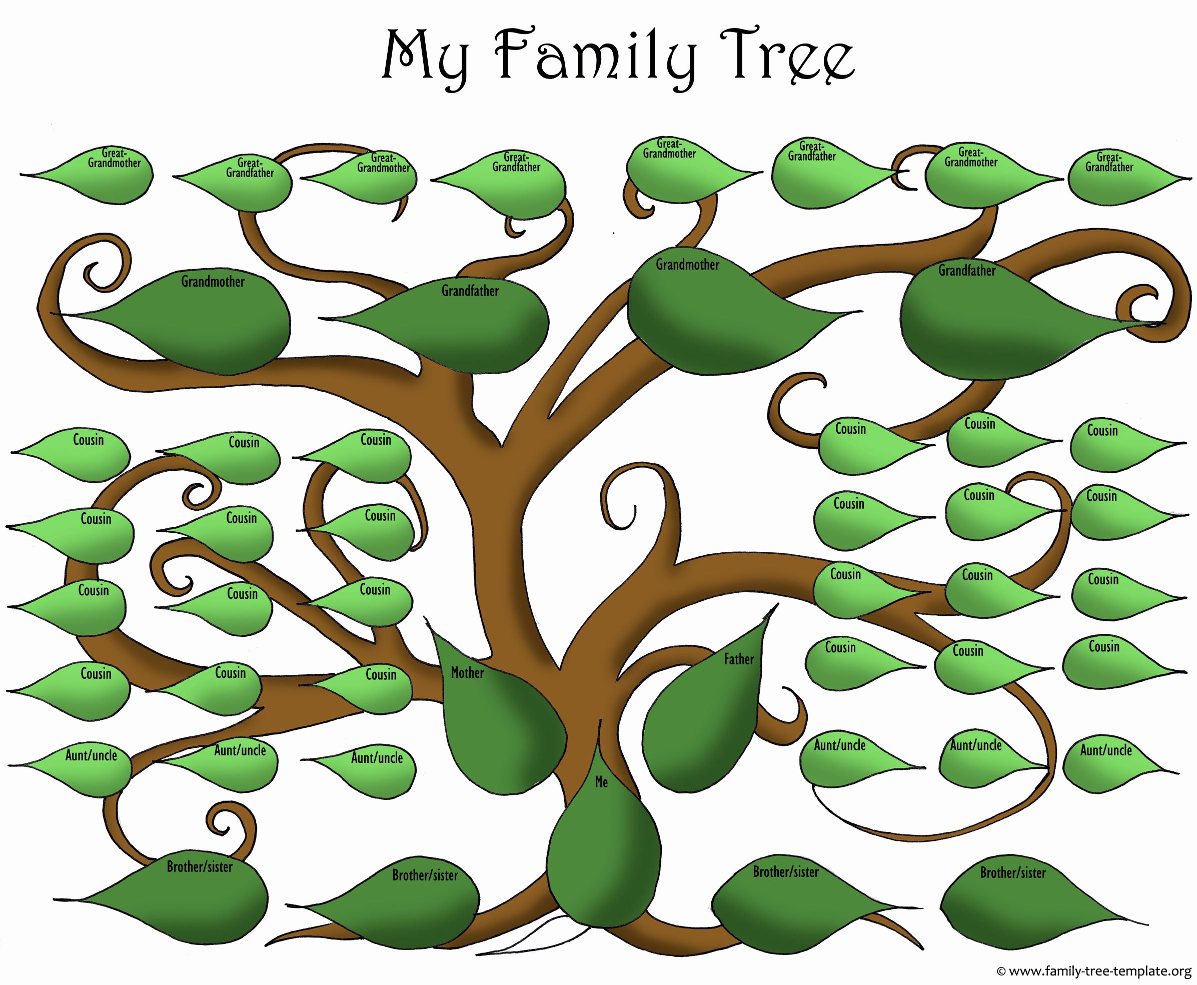 Template for Family Tree New A Printable Blank Family Tree to Make Your Kids Genealogy
