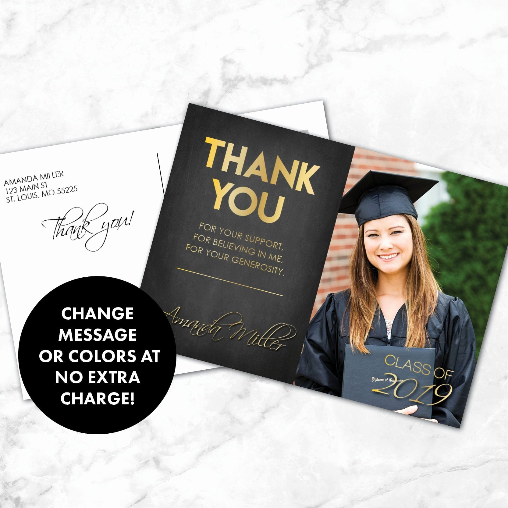 Thank You Card for Money Awesome Party Supply Graduation Thank You Cards Message for Money