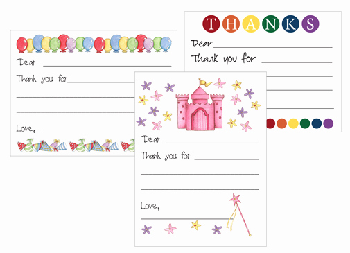 Thank You Card for Money Beautiful Free Printable Kid S Thank You Card Templates Money