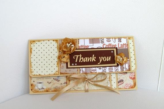 Thank You Card for Money Beautiful Thank You Money Holder Thank You Card Money Envelope Gift