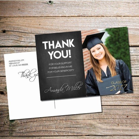 Thank You Card for Money Best Of Chalkboard Graduation Thank You Card Thank You Graduation