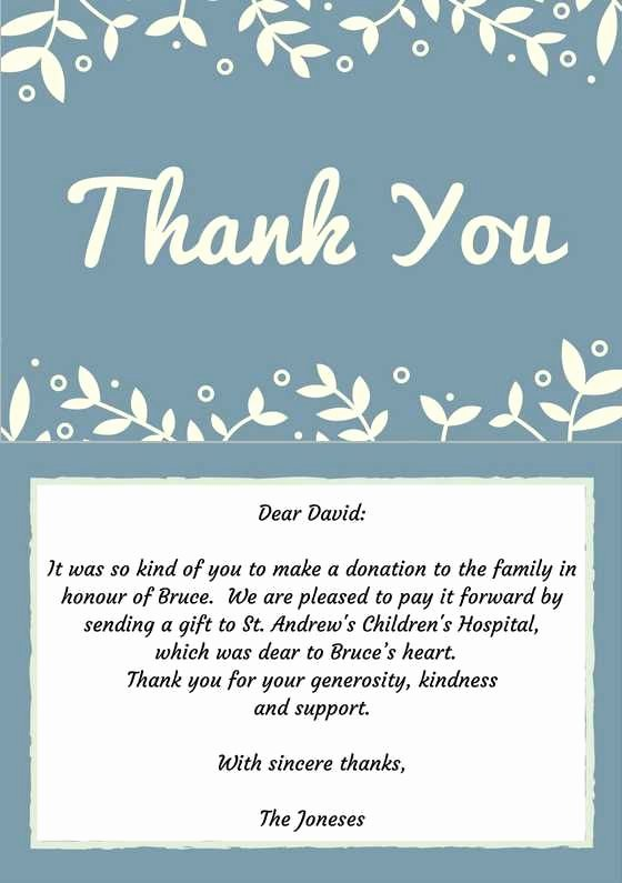 Thank You Card for Money Fresh 33 Best Funeral Thank You Cards