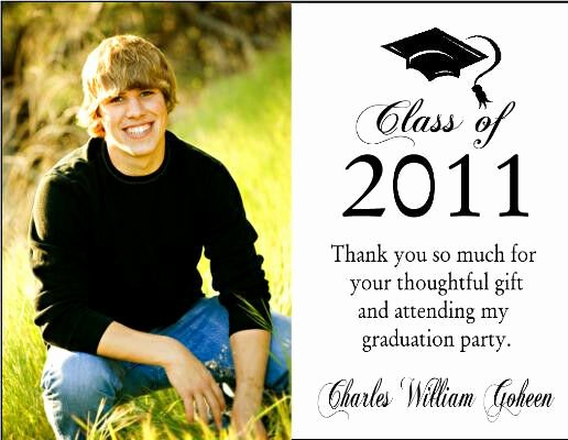 Thank You Card for Money Inspirational Graduation Graduate Photo Party Thank You Note Cards