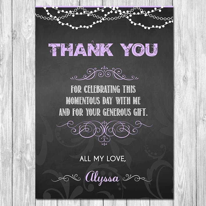 Thank You Card for Money Luxury Chalkboard Thank You Card Chalkboard Thank You Card Unique