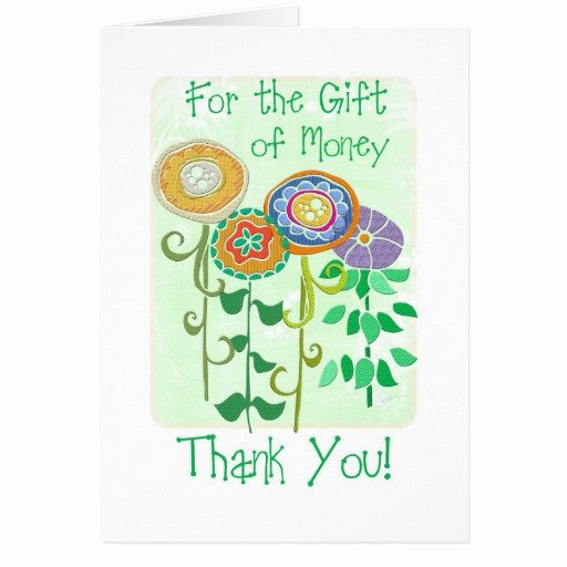 Thank You Card for Money Luxury Thank You for the Gift Of Money Card