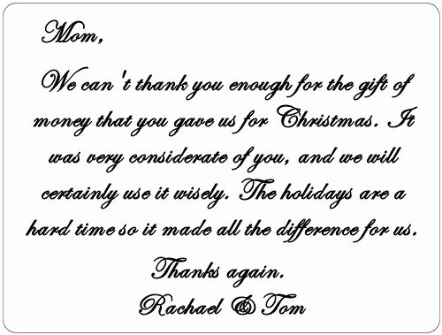 Thank You Card for Money New Thank You Notes Thank You Cards and Christmas Ts On