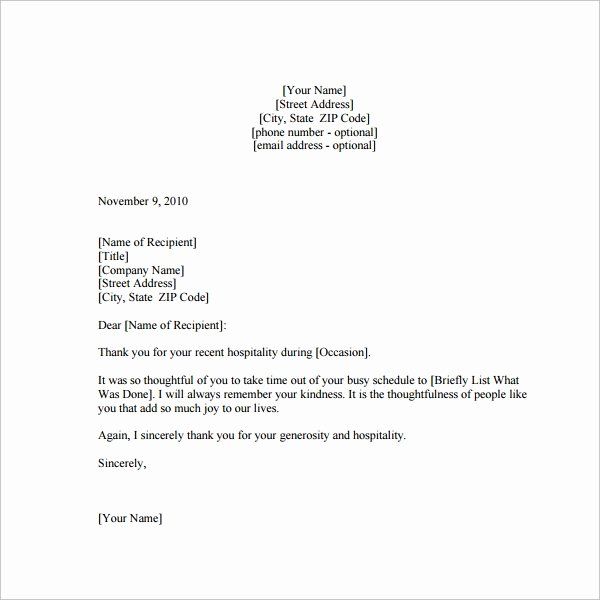 Thank You Note Sample Awesome Sample Thank You Note 9 Documents In Word Pdf