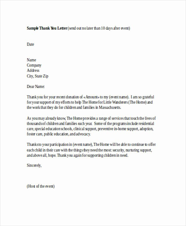 Thank You Note Sample Beautiful Free 74 Thank You Letter Examples In Doc Pdf