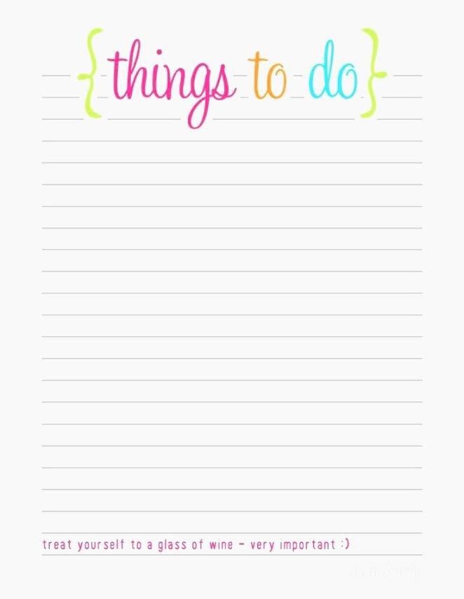 Things to Do List Template Fresh Best Smart Printable Checklist Template